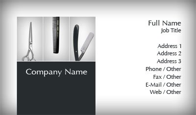 Grey Barber Tools Business Card Template